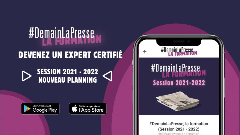 Le planning 2021 - 2022 de #DemainLaPresse la Formation est disponible !